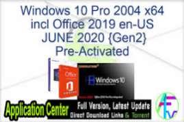 Windows 10 X64 Pro incl Office 2019 pl-PL DEC 2020 {Gen2}